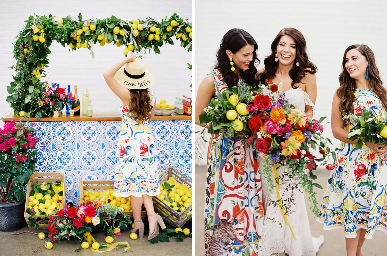 Colorful Southern Italian Wedding