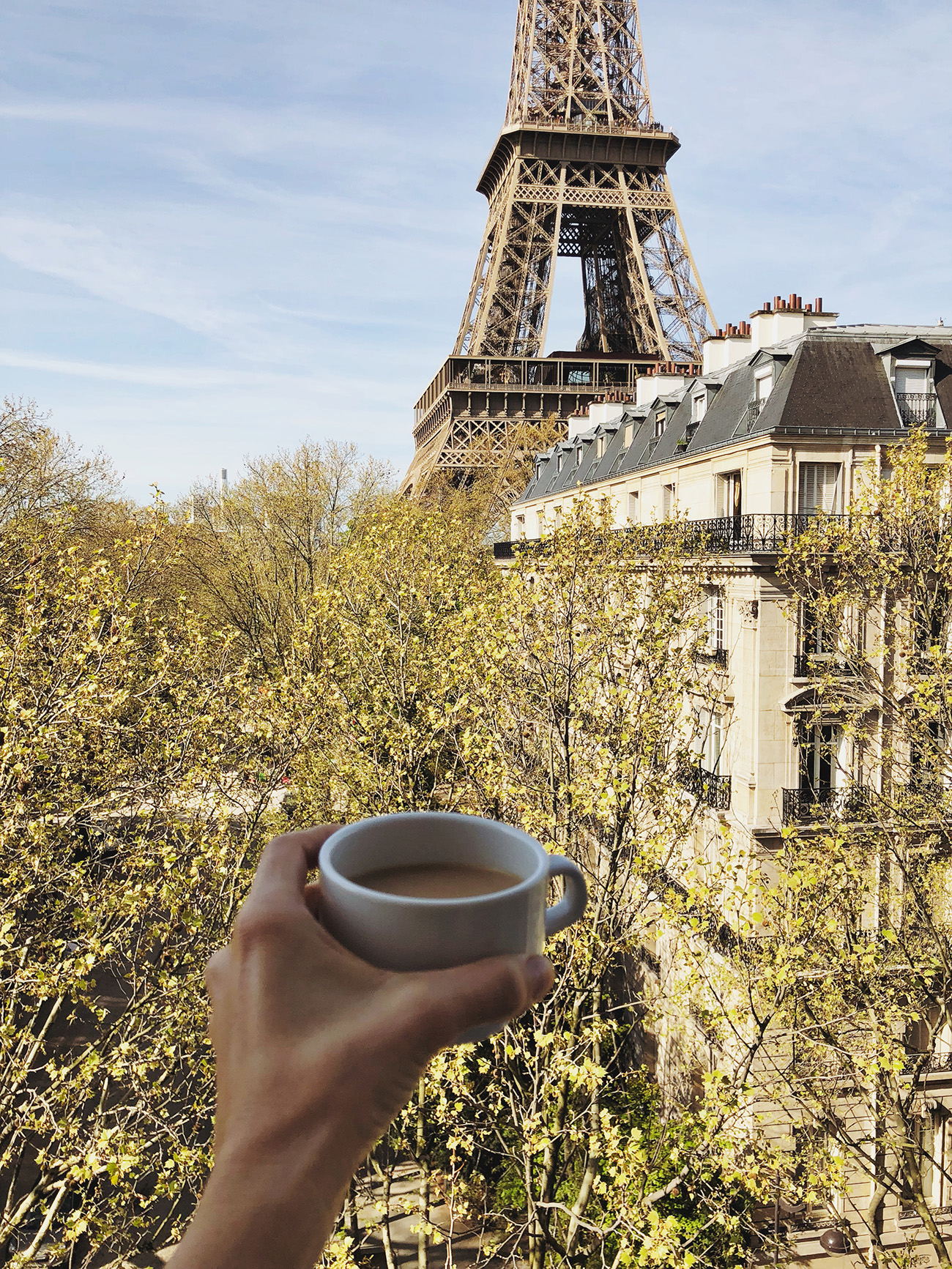 Eiffel Tower Apartment with a Coffee