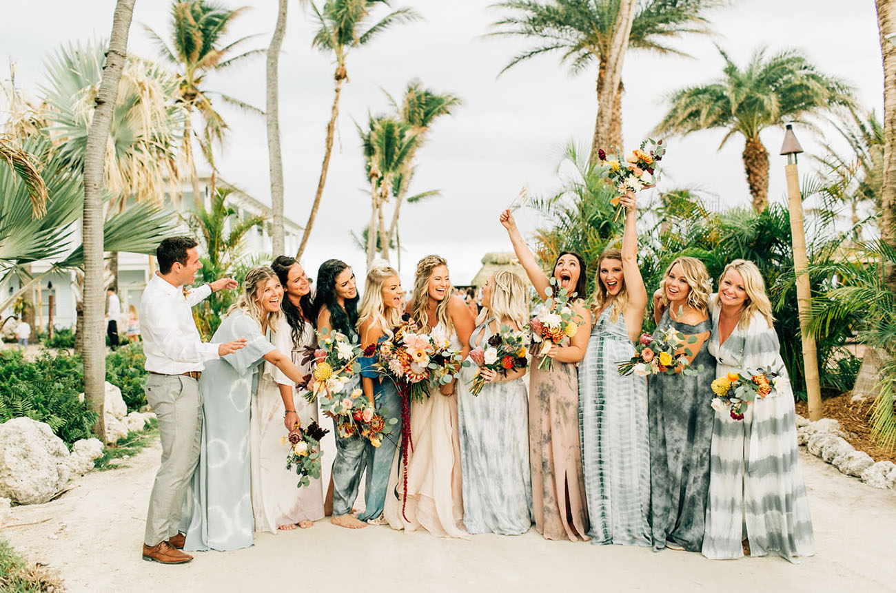 Tropical + Laid-Back Beach Front Wedding In The Florida