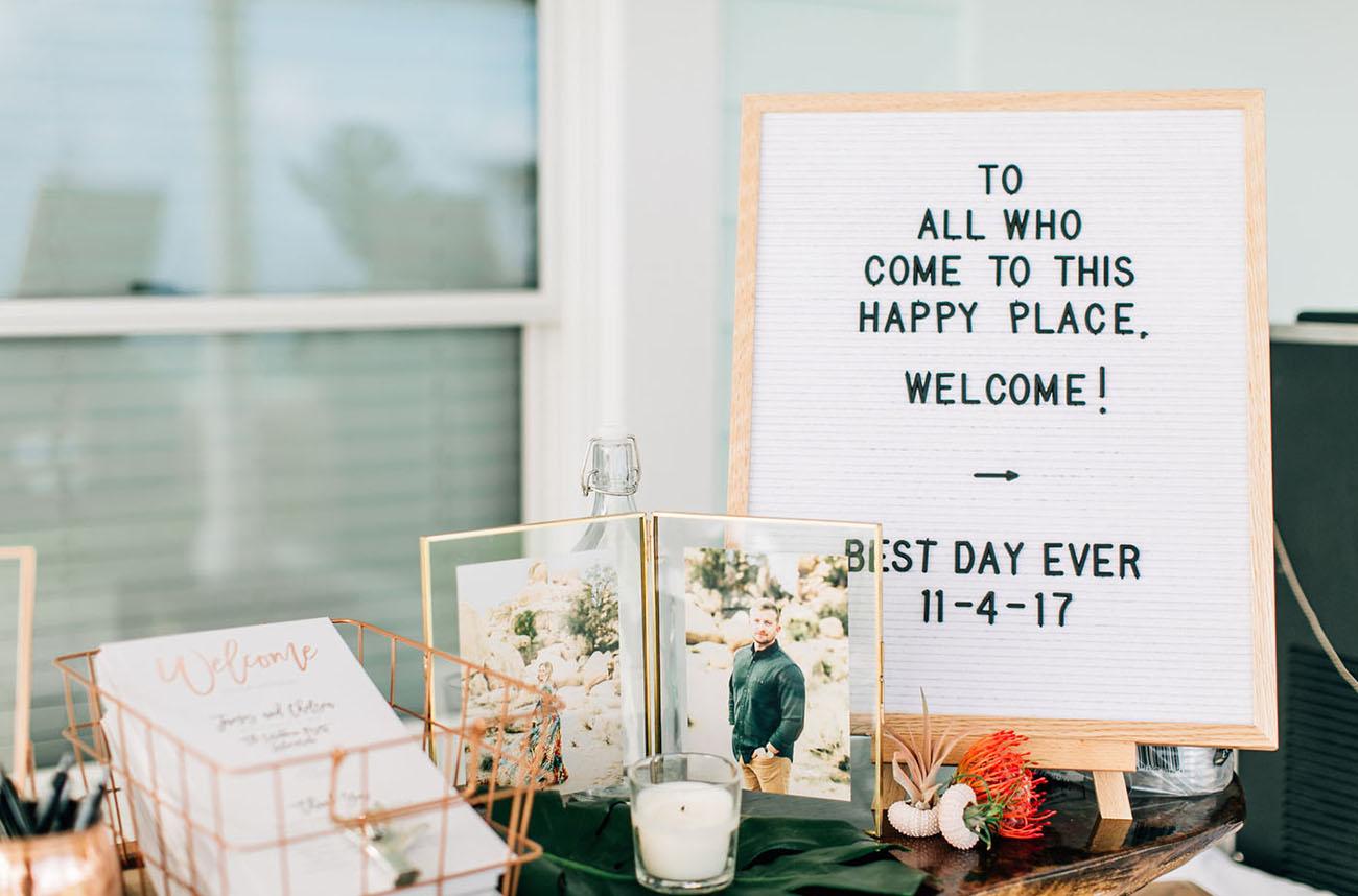 wedding letterboard