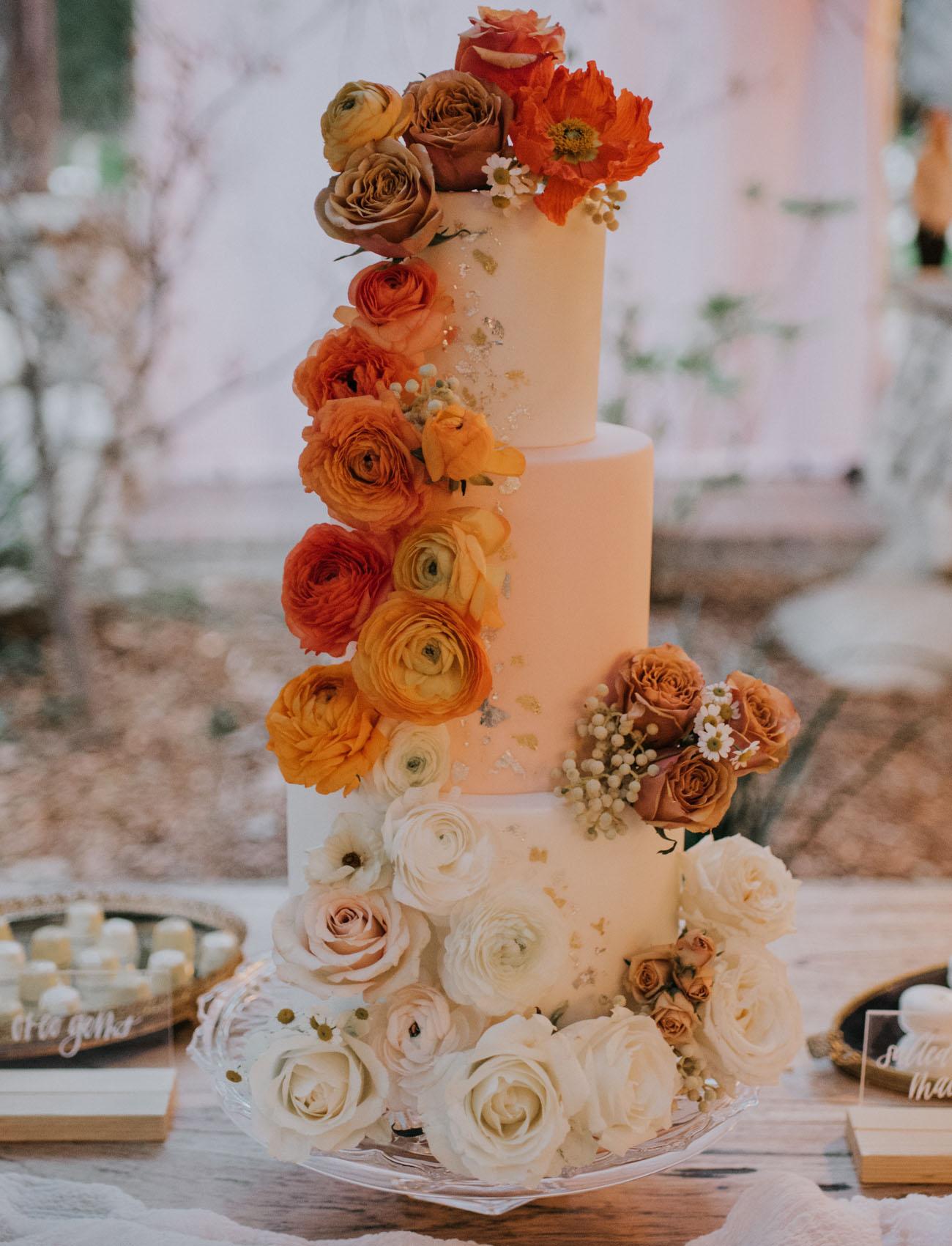 cascading orange cake