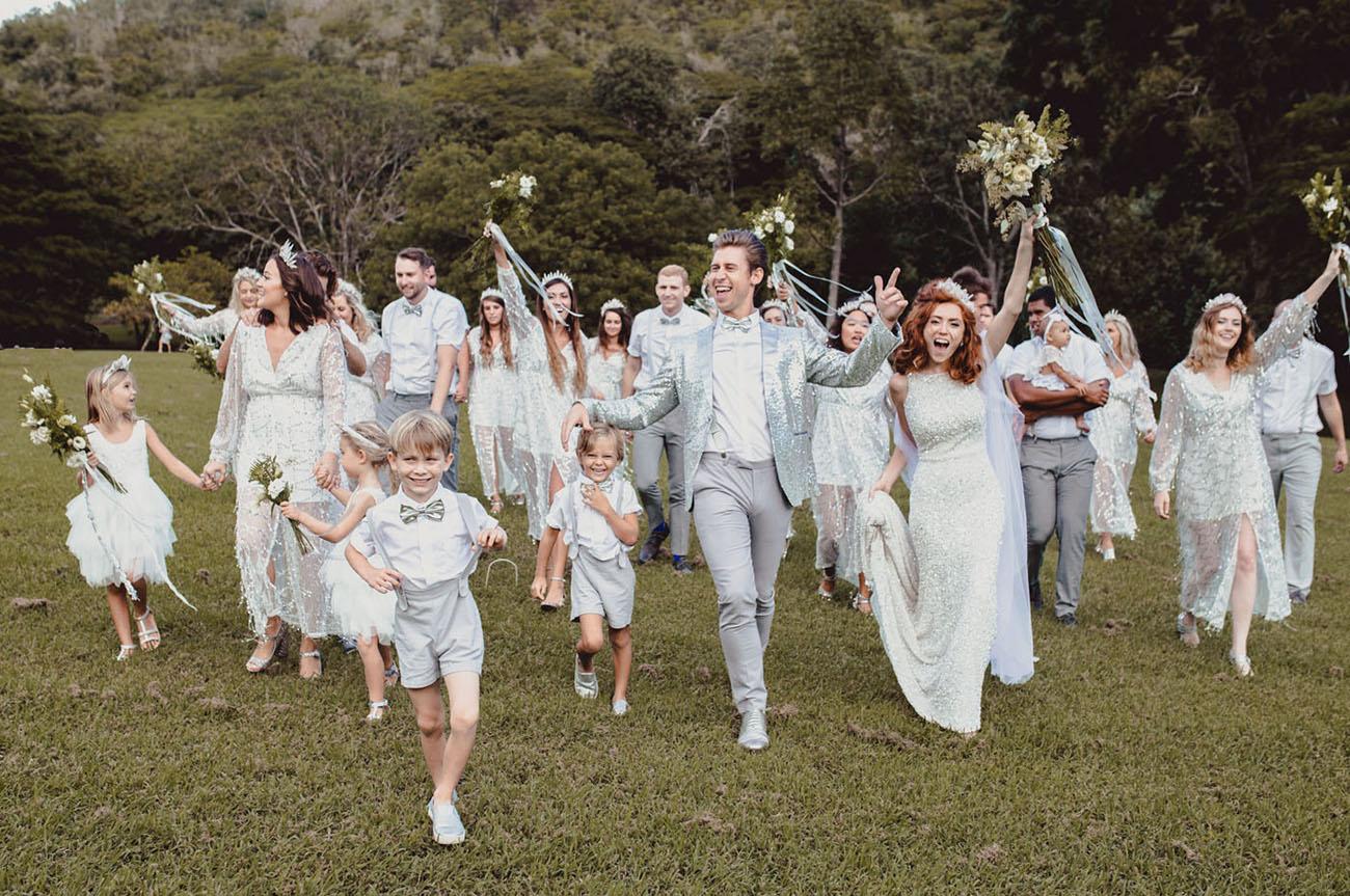 Icy-Chic Kauai Wedding