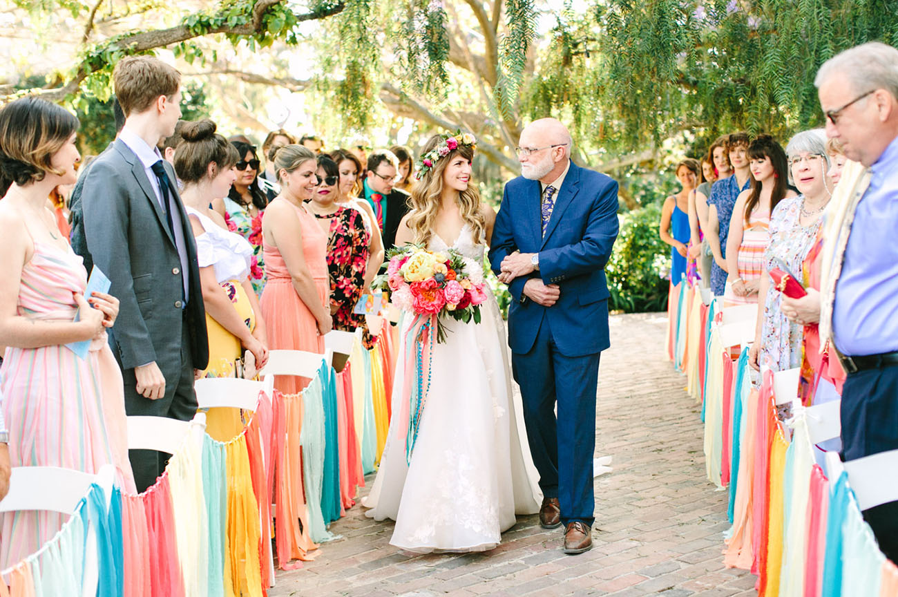 Super Colorful California Inspired Wedding