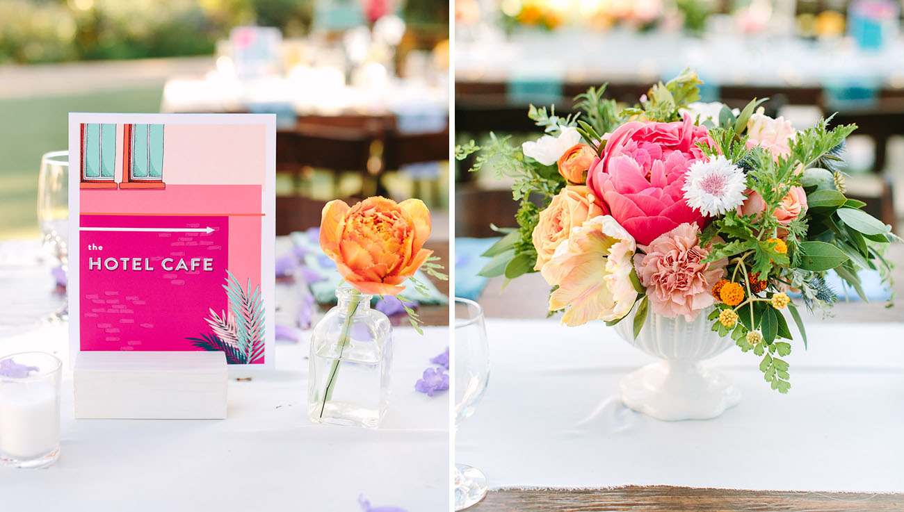 Colorful California Inspired Wedding