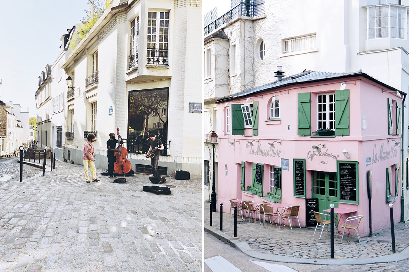 Pink House in Montmarte