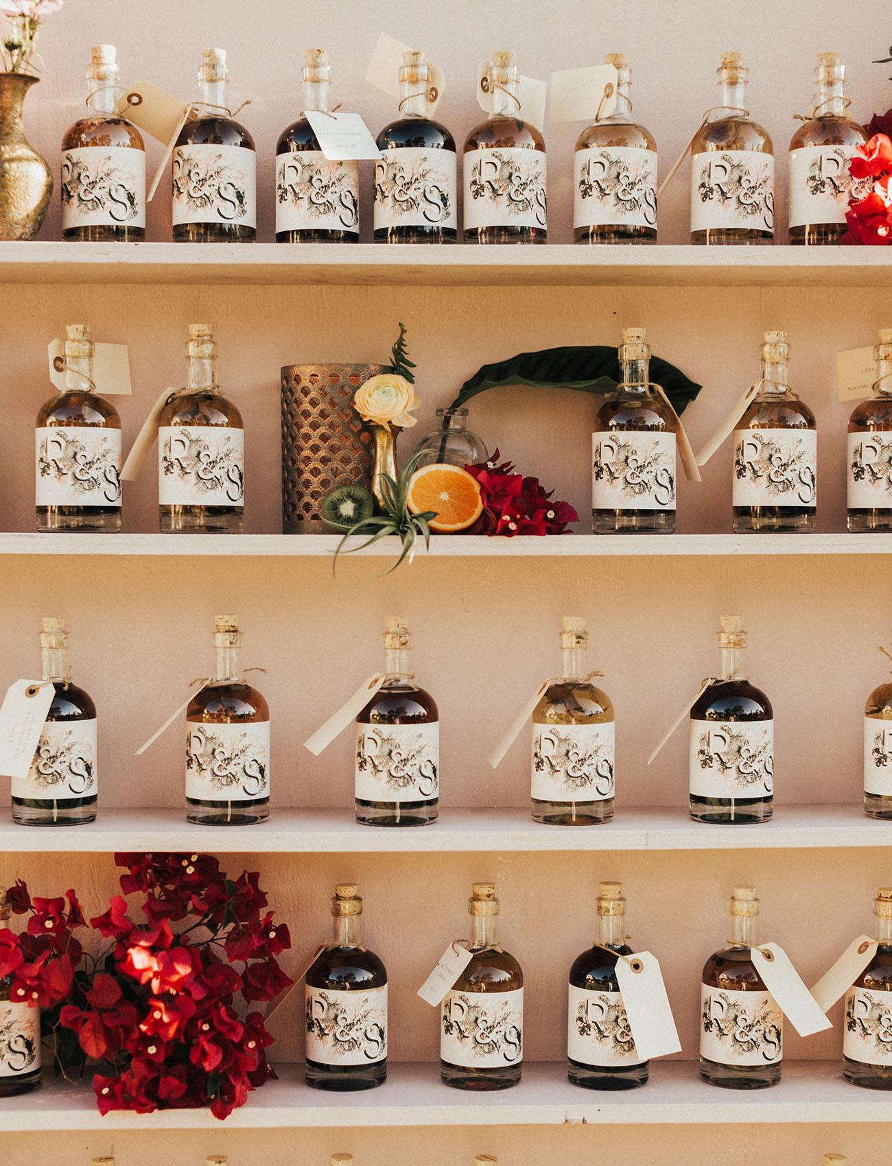 infused vodka escort display