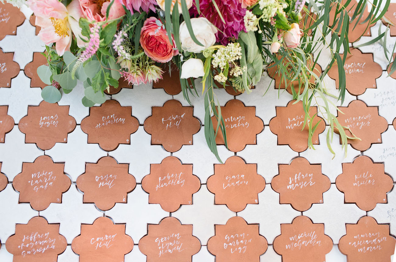 Amorology Terra Cotta Escort Cards