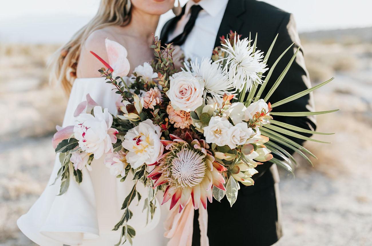 pink desert bouquet