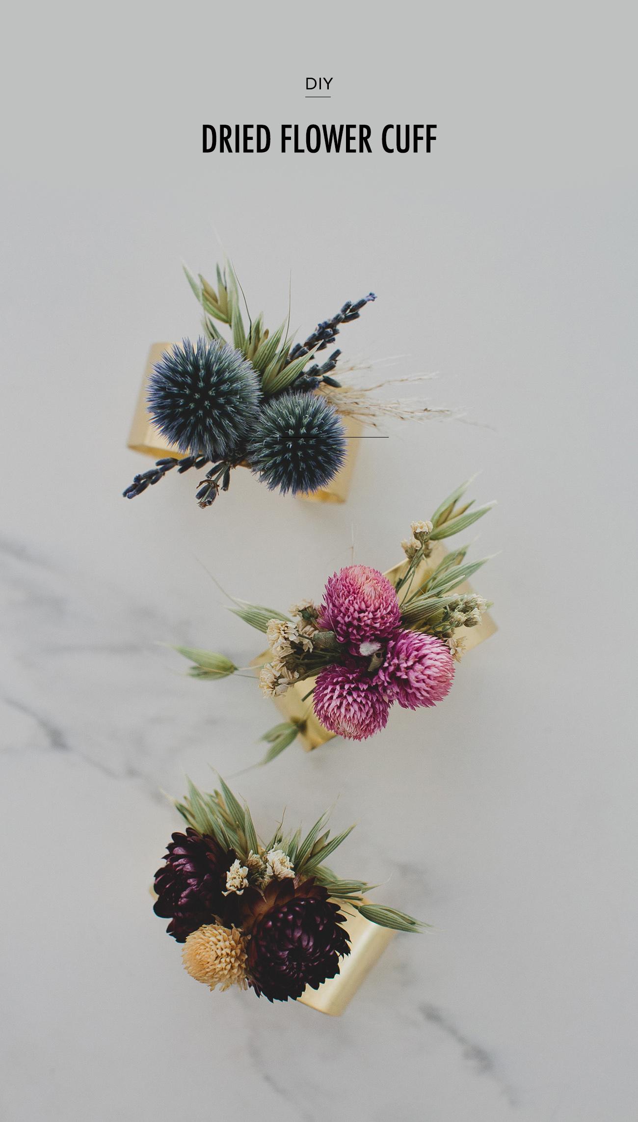 DIY dried flower cuff