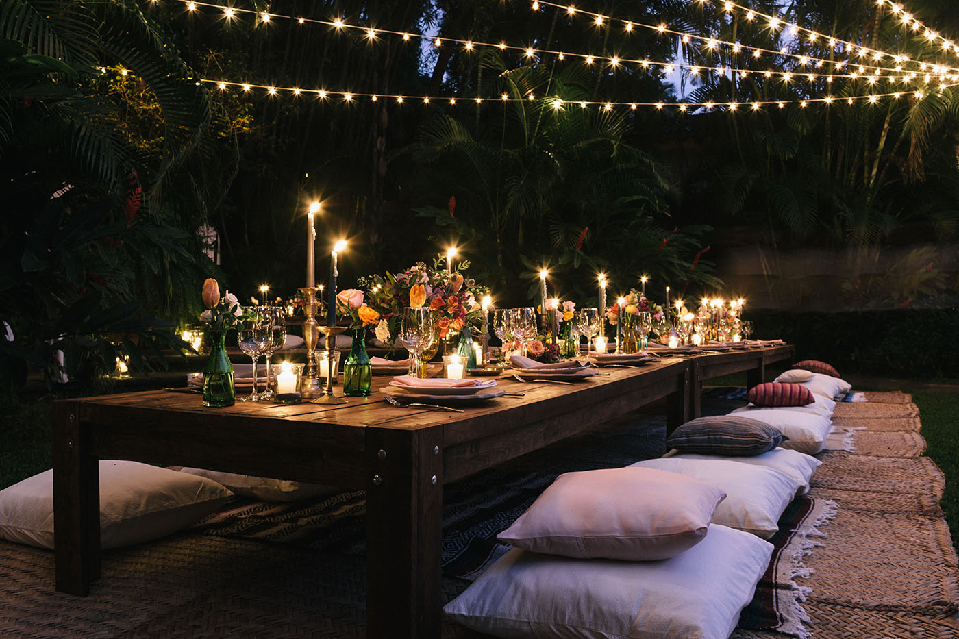Romantic Low Reception Seating | MARWEDDINGS