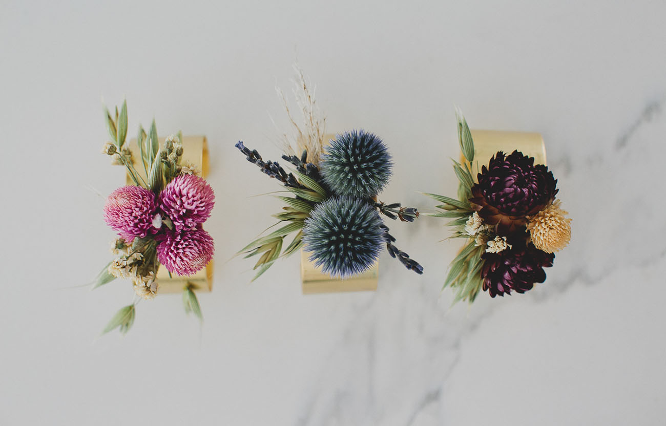 DIY Dried Flower Cuff with Afloral