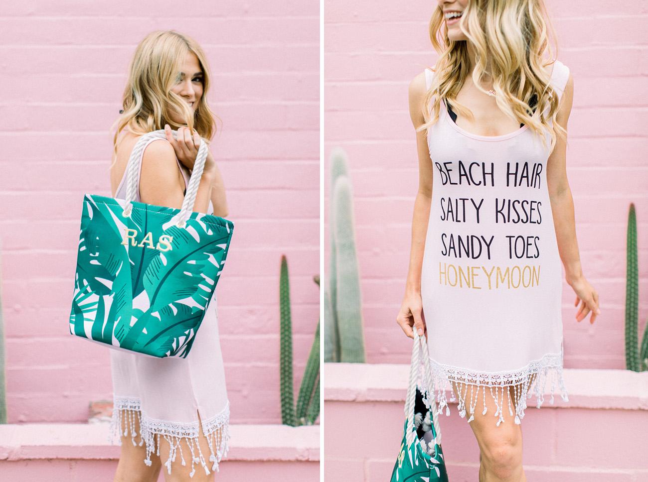 beach hair salty kisses sandy toes honeymoon