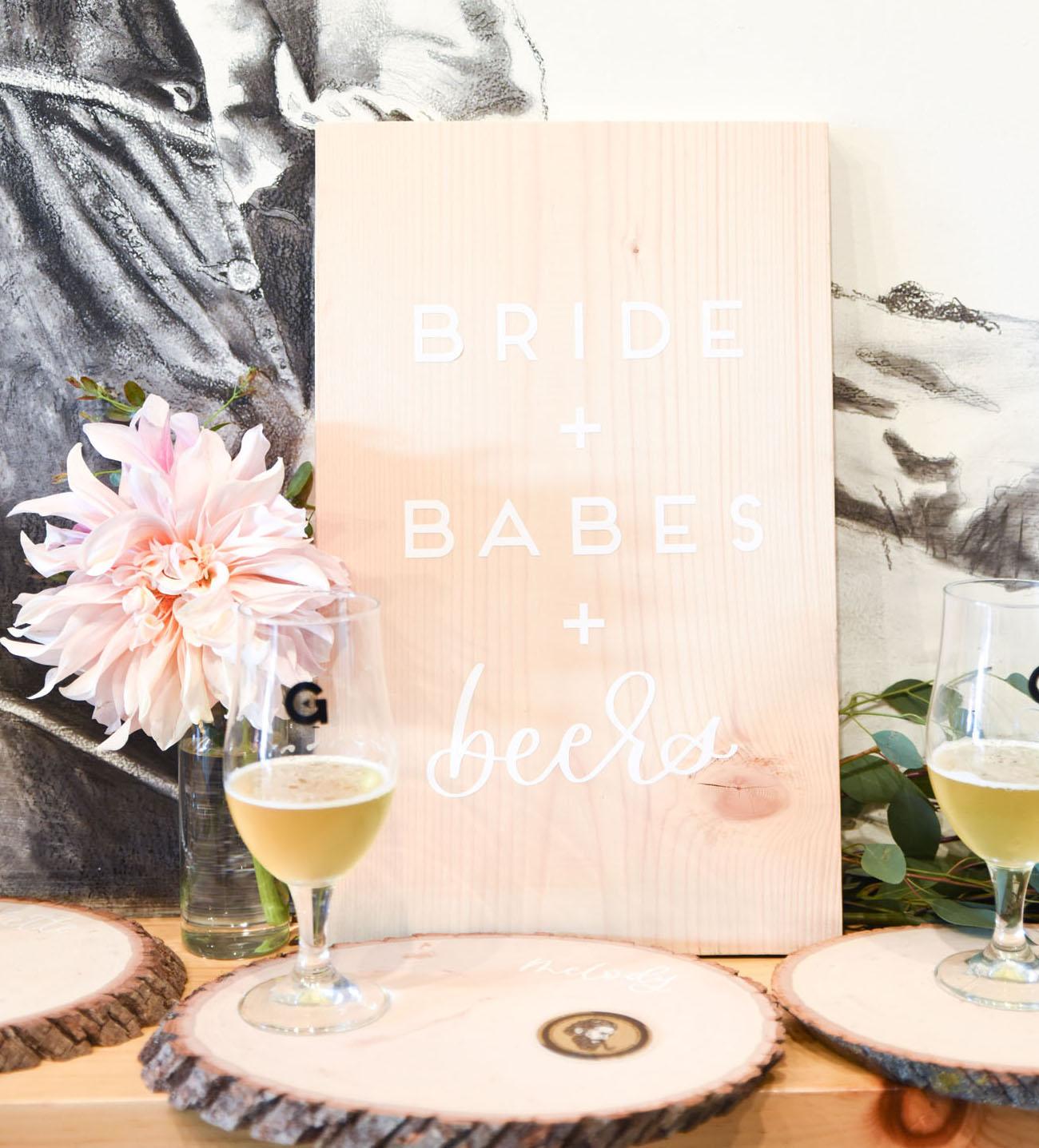 0c8008a09d0 Bride + Babes + Beers  A Craft Beer Tasting Bridal Shower - Green ...