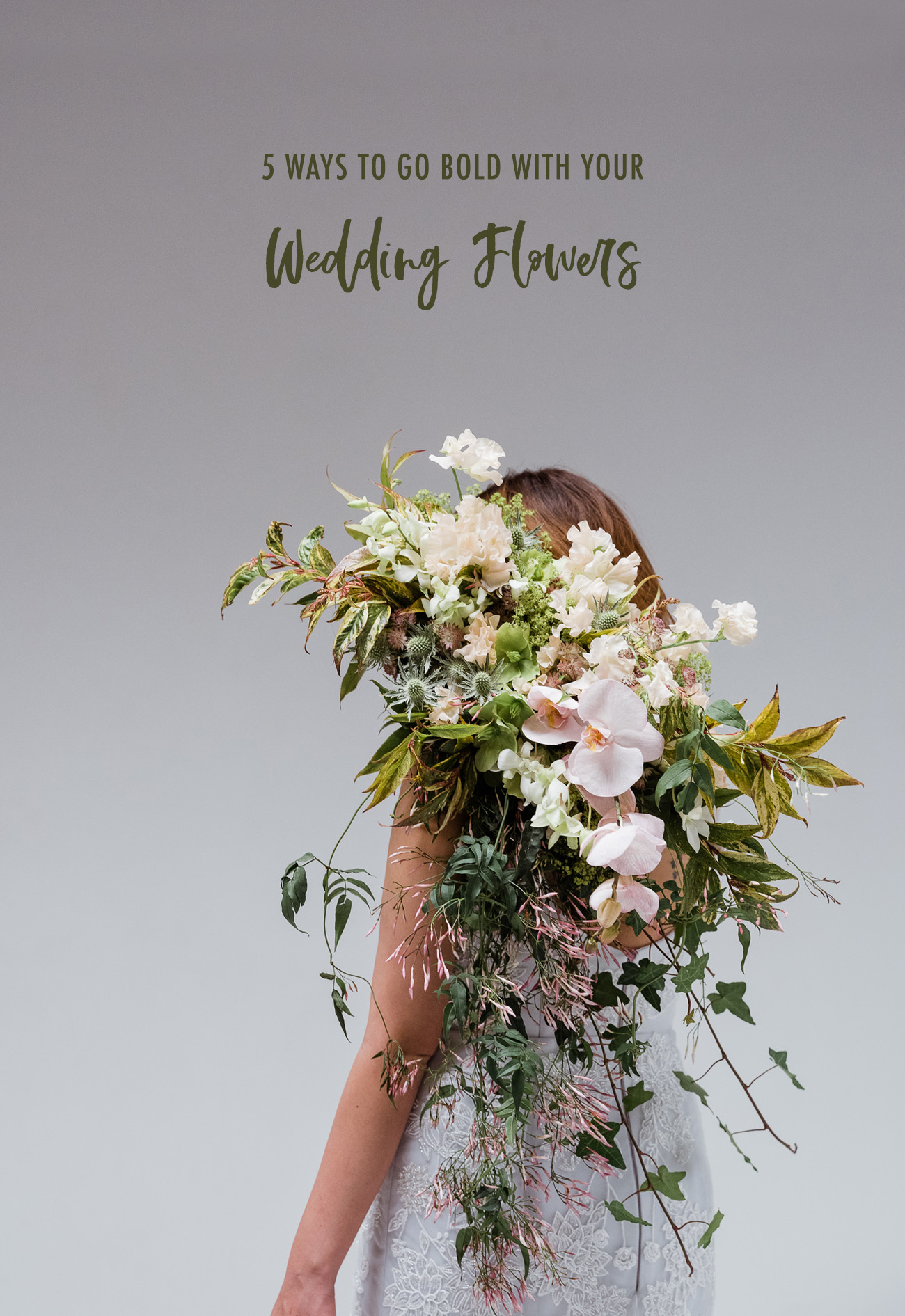 5 Ways to Go Bold with your Wedding Flowers