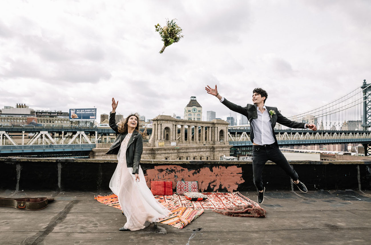 Brooklyn Rooftop Elopement Inspiration