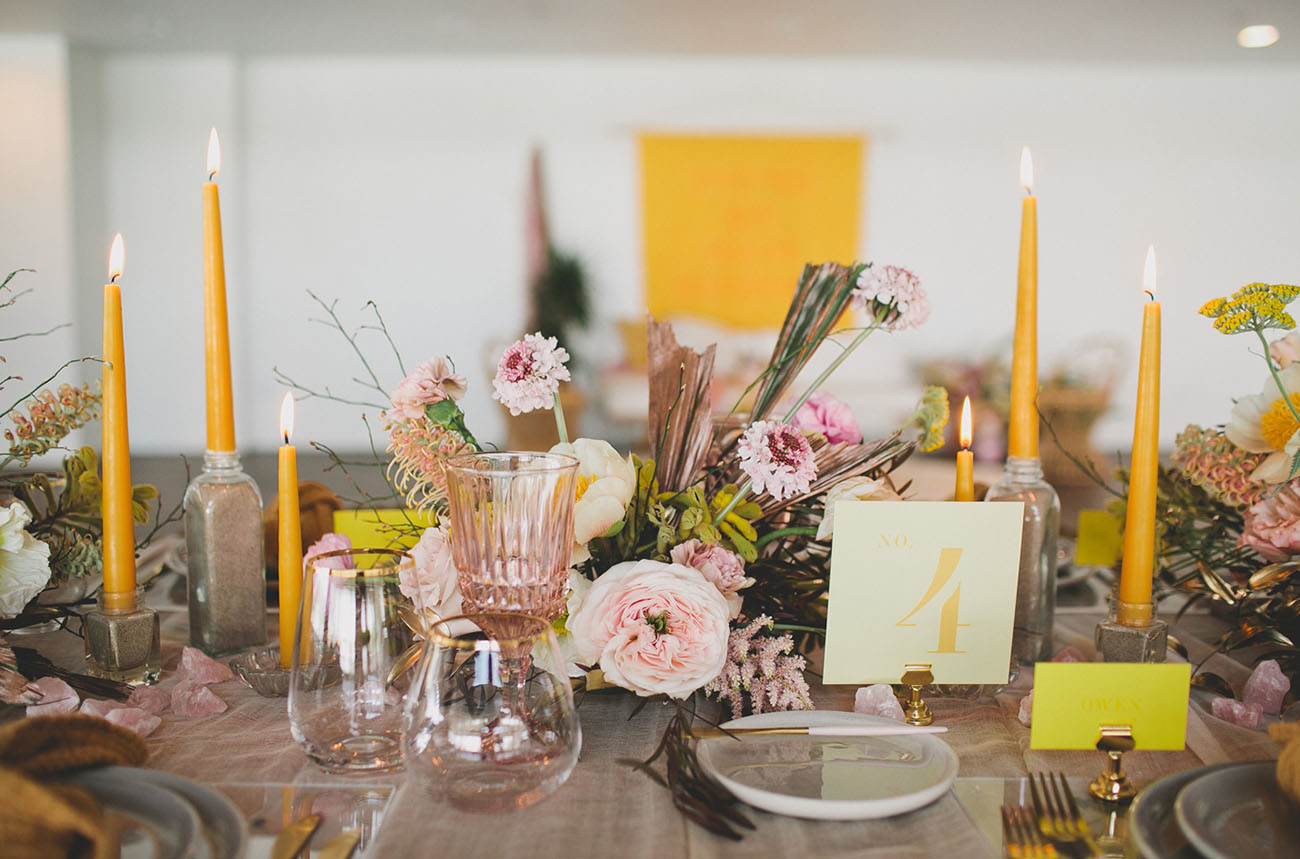 yellow table number