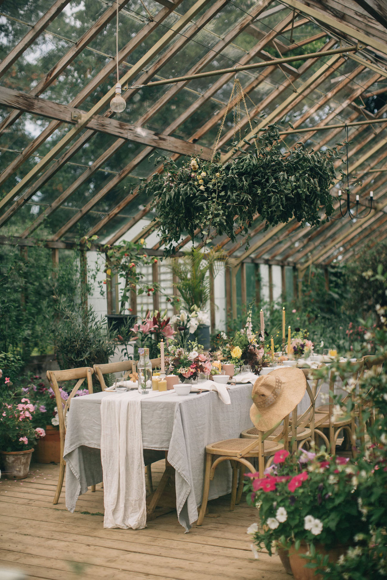 Dinner in a Greenhouse