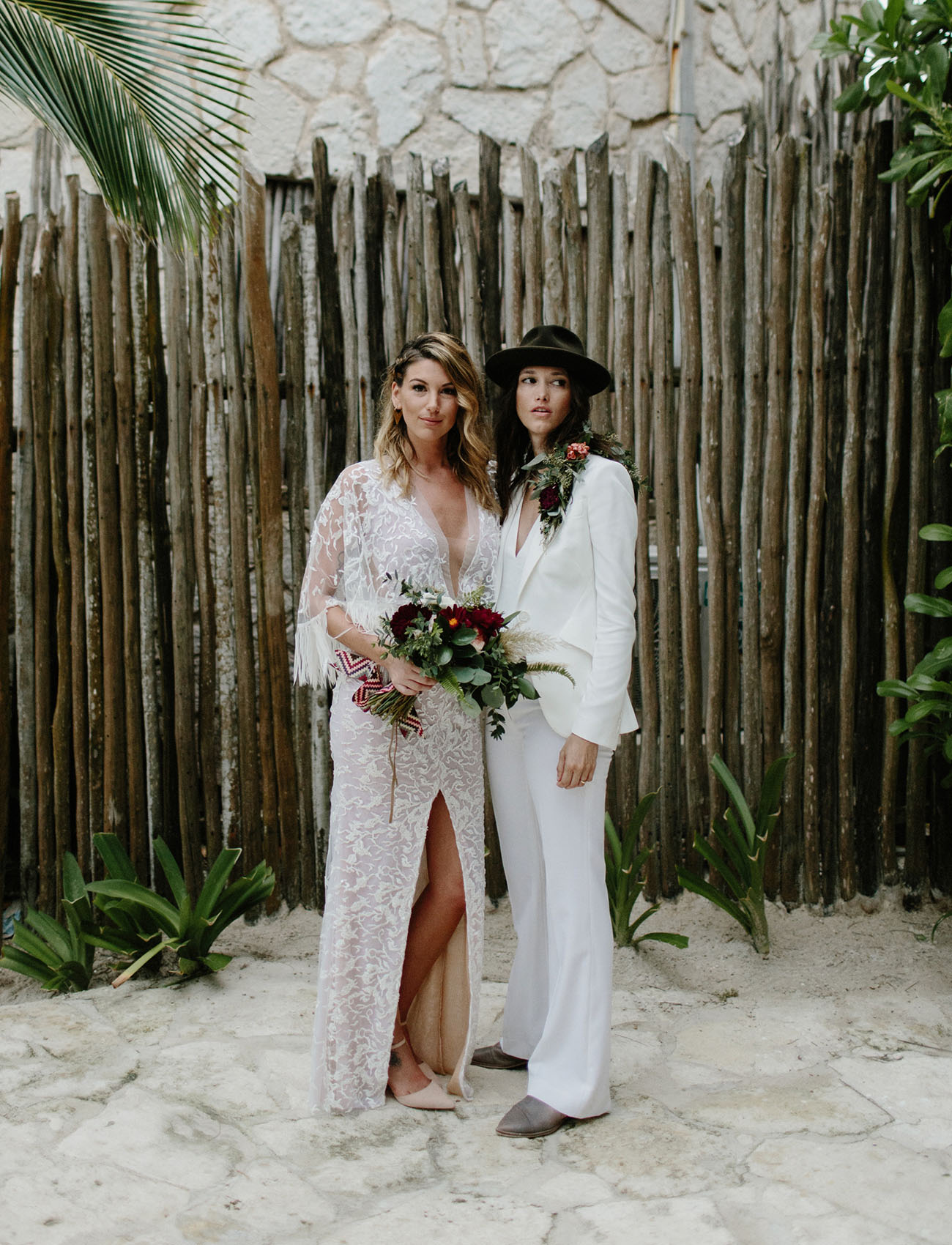 The Beach Meets Rock ?N? Roll at this Moody Wedding in Tulum