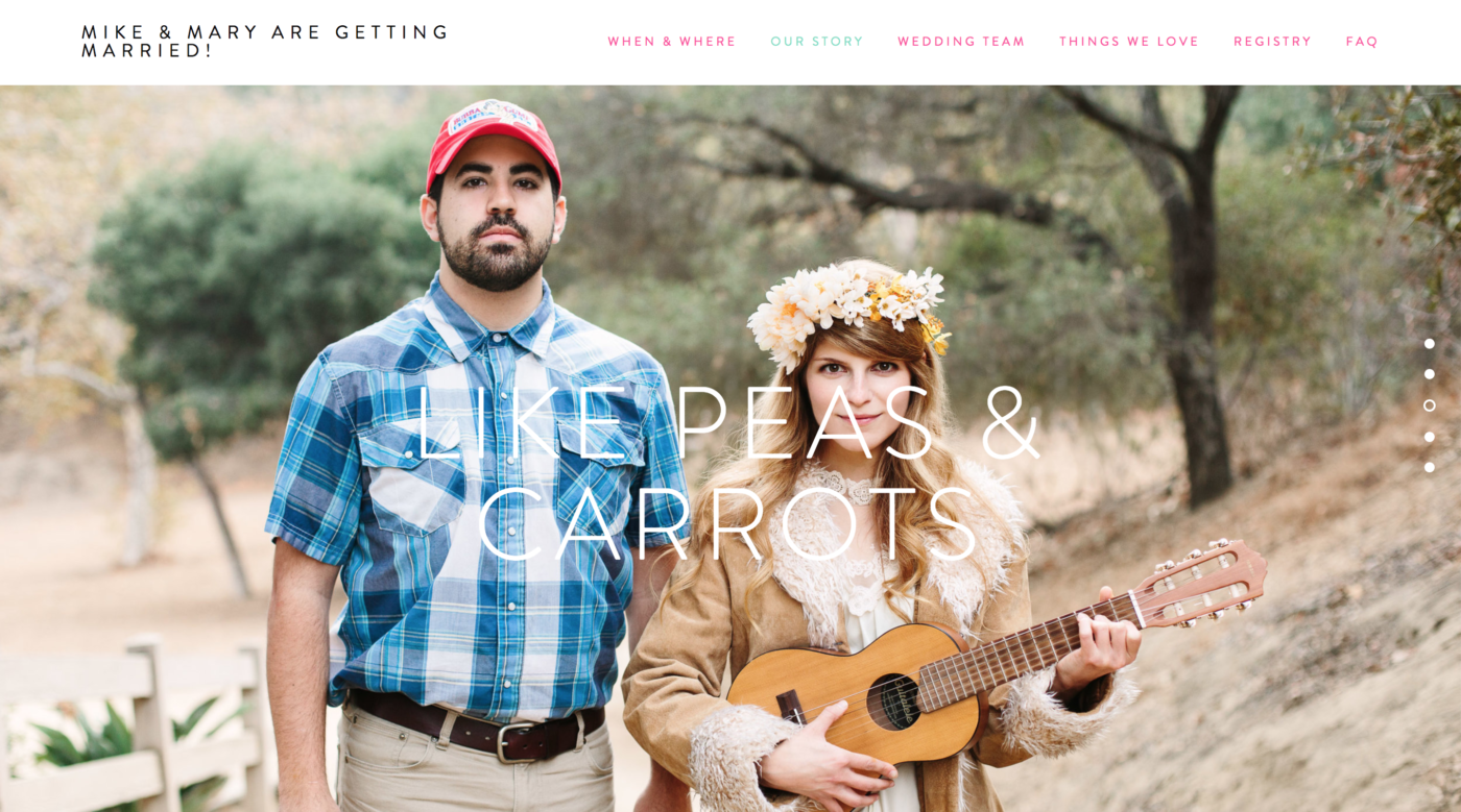 Mike + Mary's Colorful Wedding Website and Tips