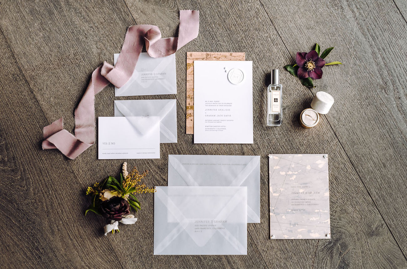clear invitation suite