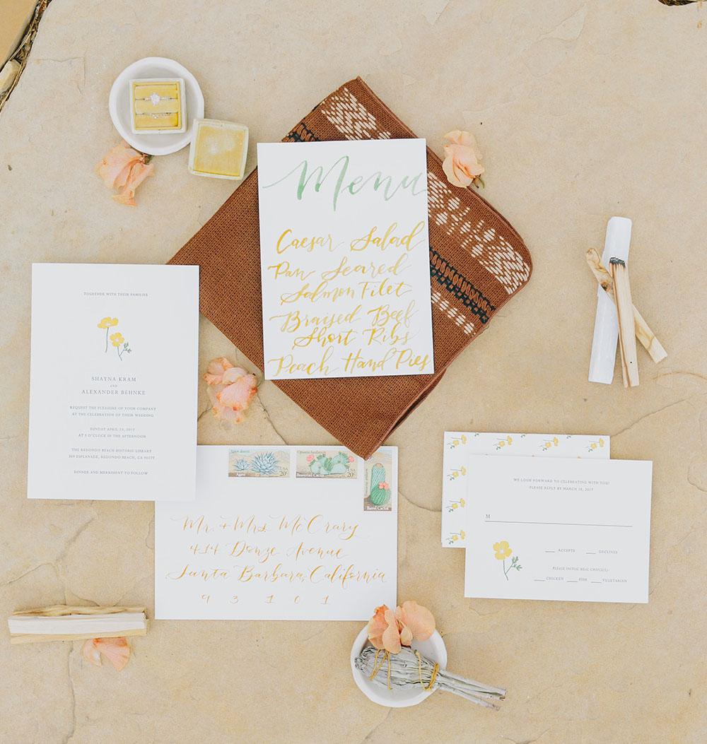 desert invitation suite