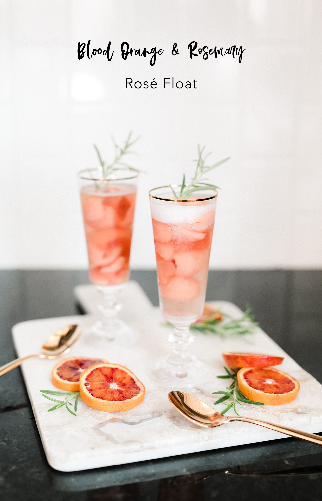 Rose Float with Blood Orange and Rosemary Recipe
