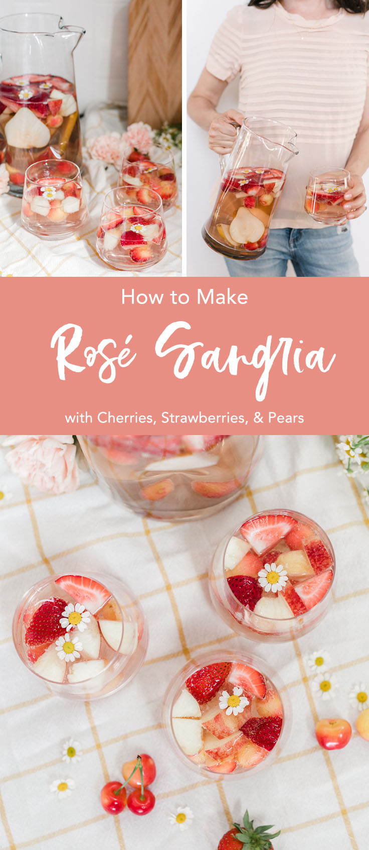 How to Make Rosé Sangria - the perfect summer cocktail!