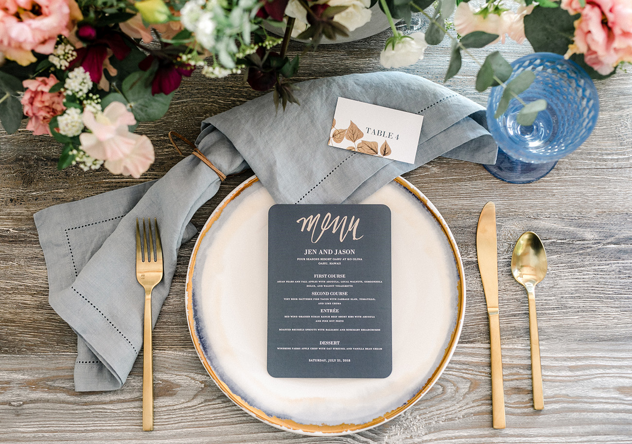 Shutterfly Menu for Wedding