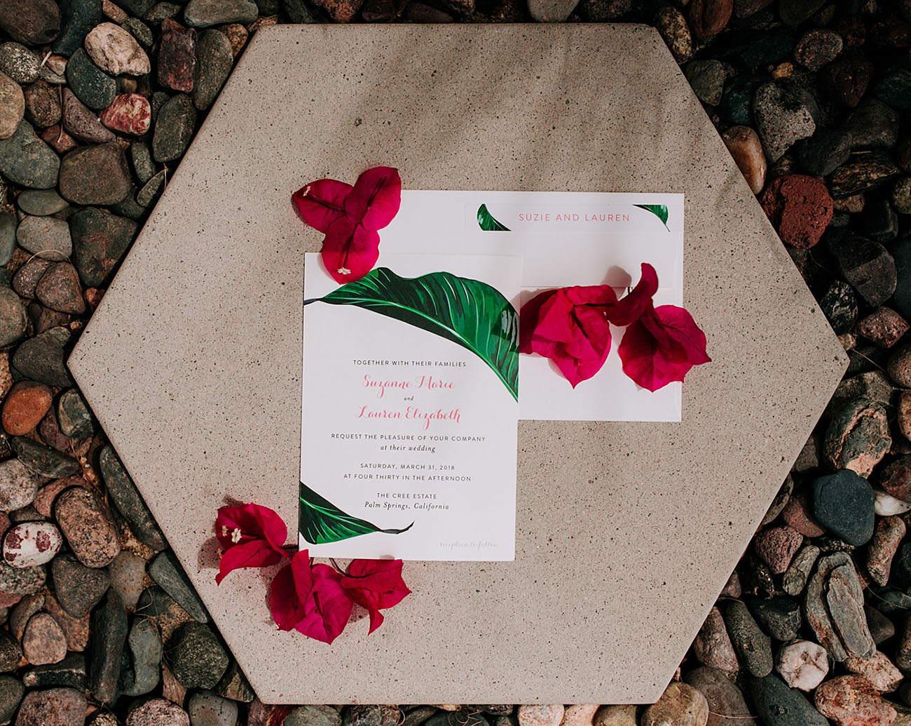 palm invitation design