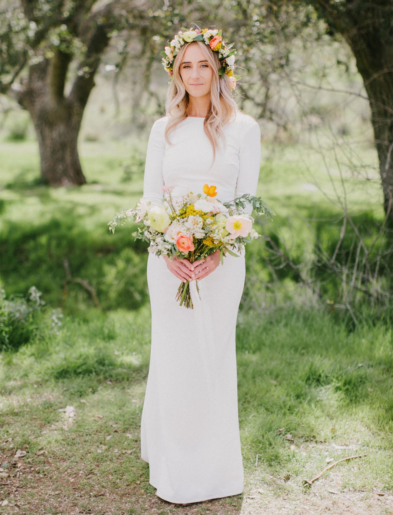 spring flower crown bride