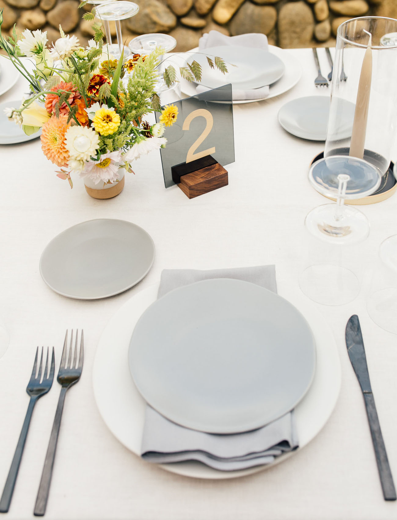 modern gray dinnerware