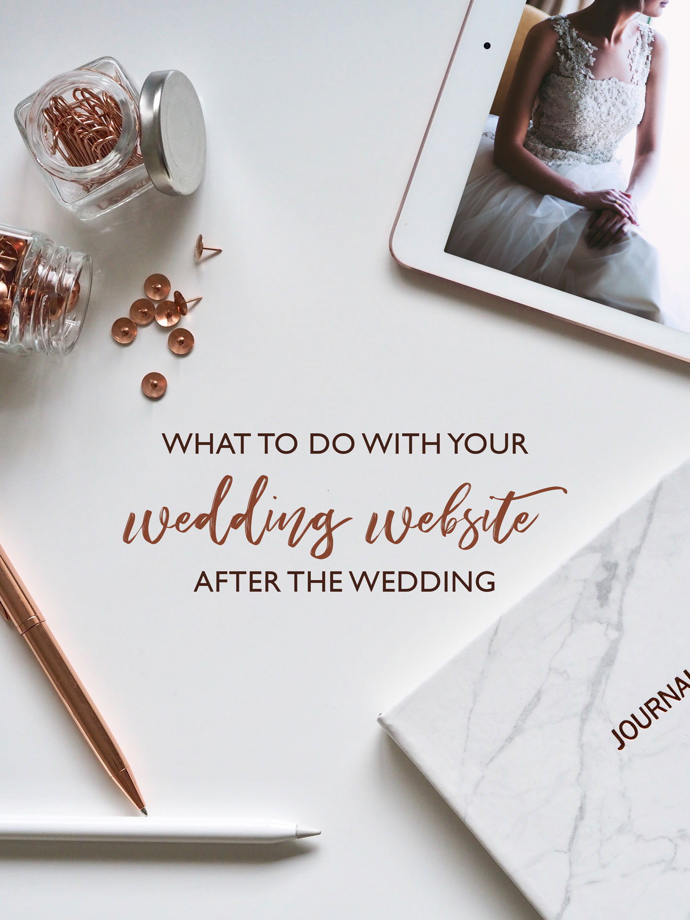 What to do with your wedding website after the wedding!
