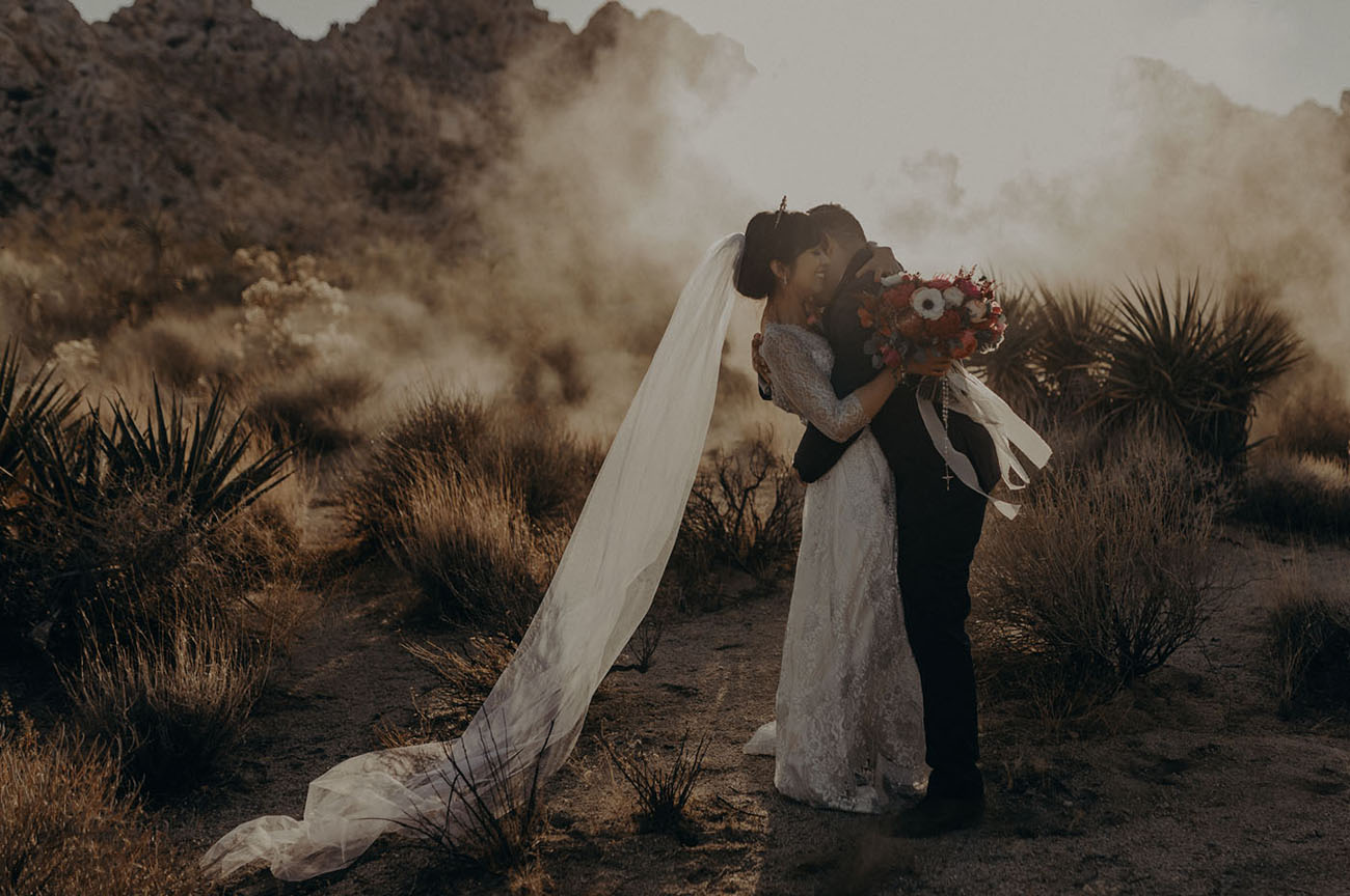 "To the Moon! This Wedding took the ""Impossible Voyage"" from Joshua Tree to DTLA"
