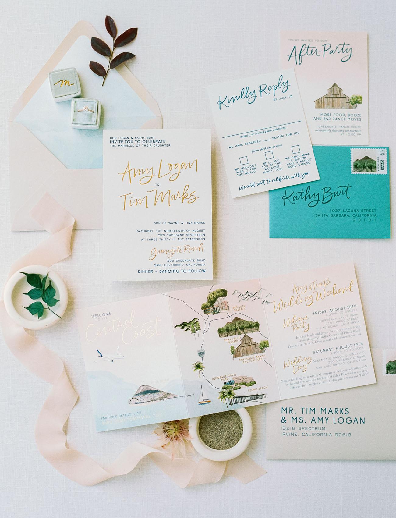 pastel invitation suite