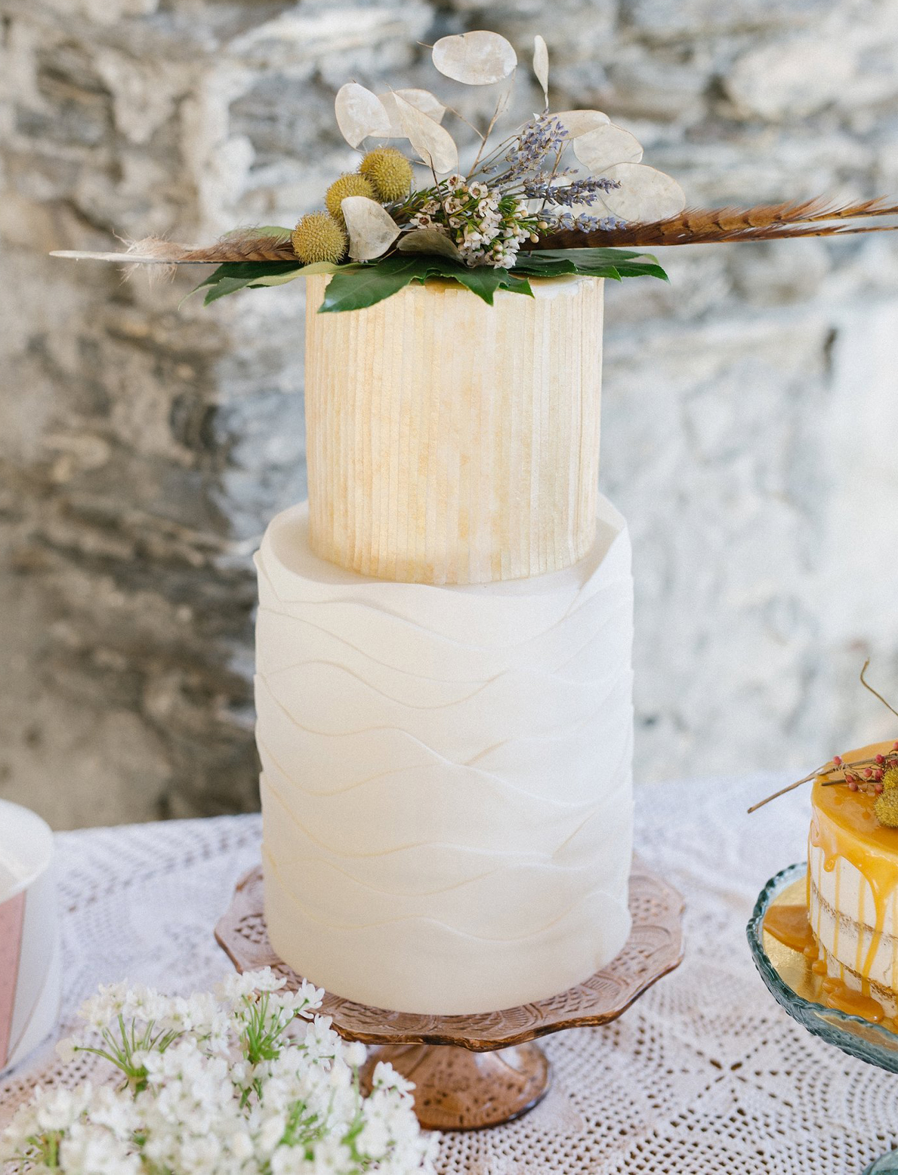 rustic wedding cakr