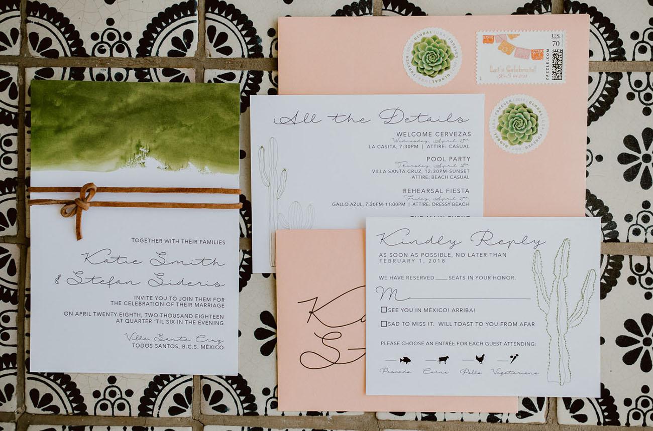 pink envelope invitation