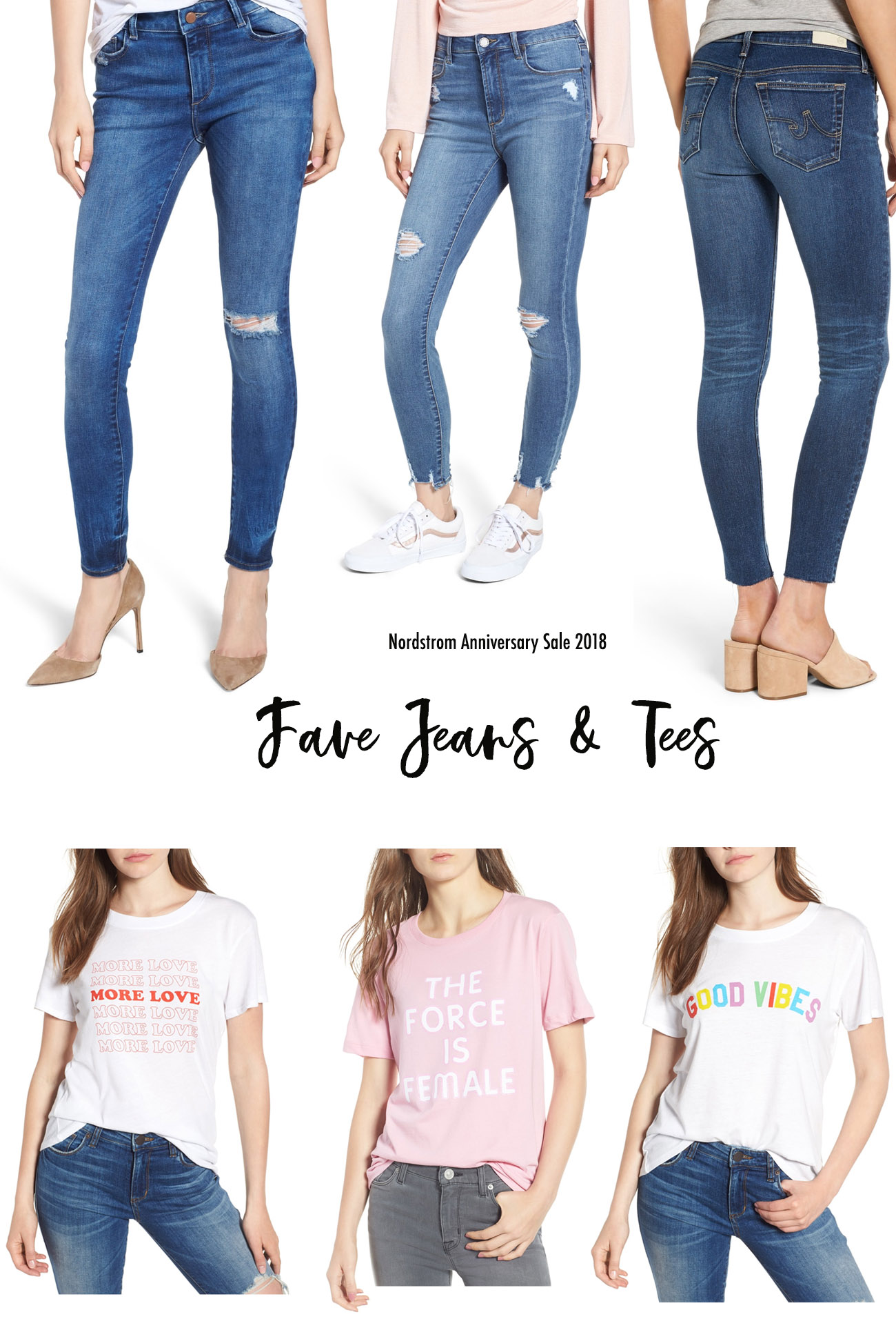 nordstrom sale 2018 fave jeans and tees