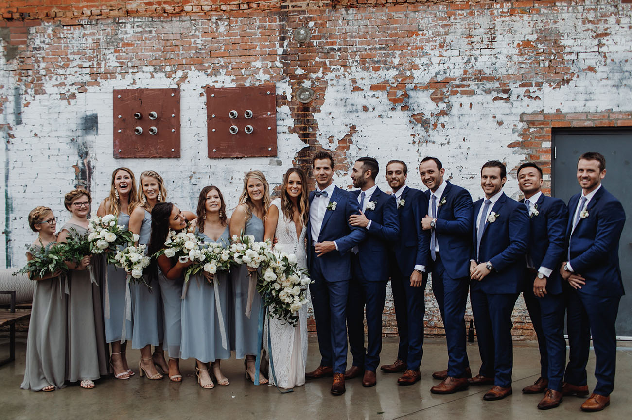 Rain Didn't Stop this Industrial Meets California-Inspired Wedding in Texas