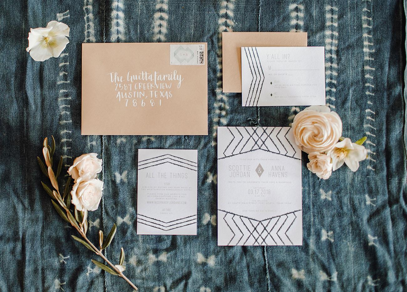 modern invitation
