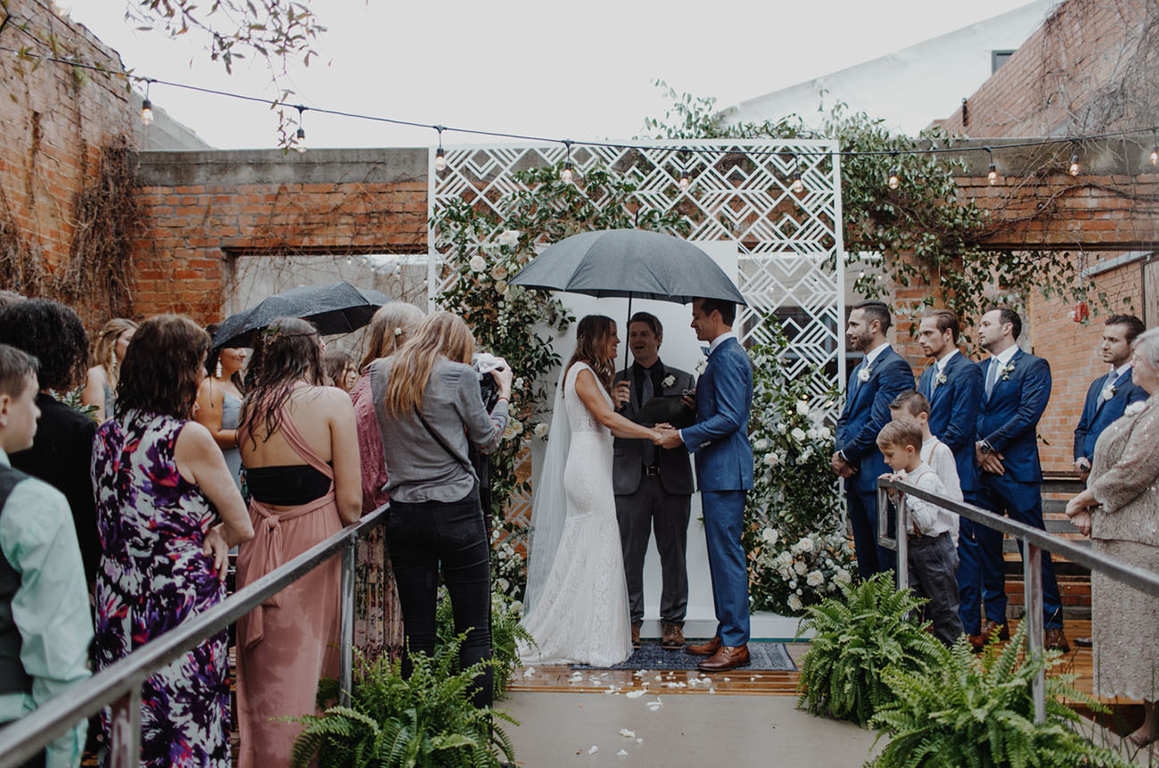 Rainy Texas Wedding