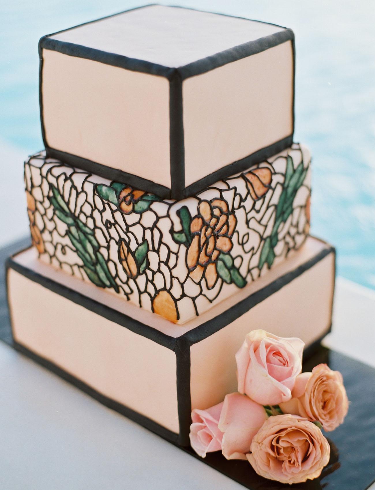 modern pink cake