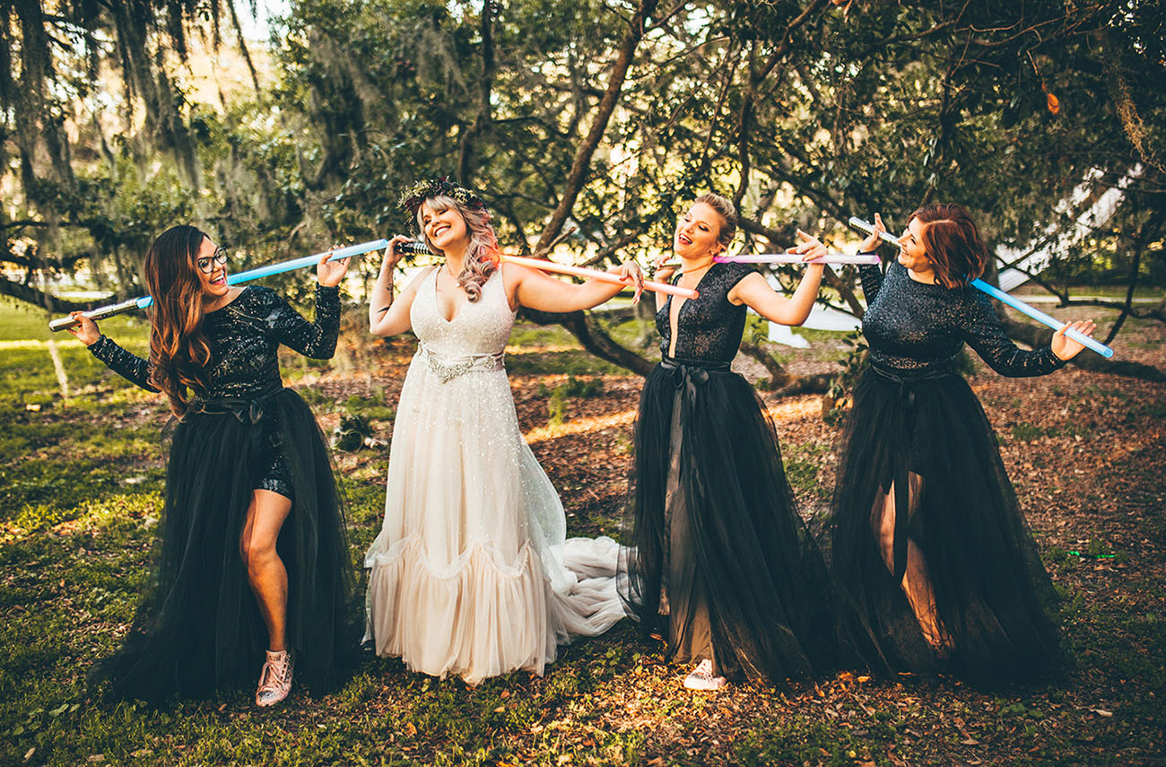 light saber bridesmaids