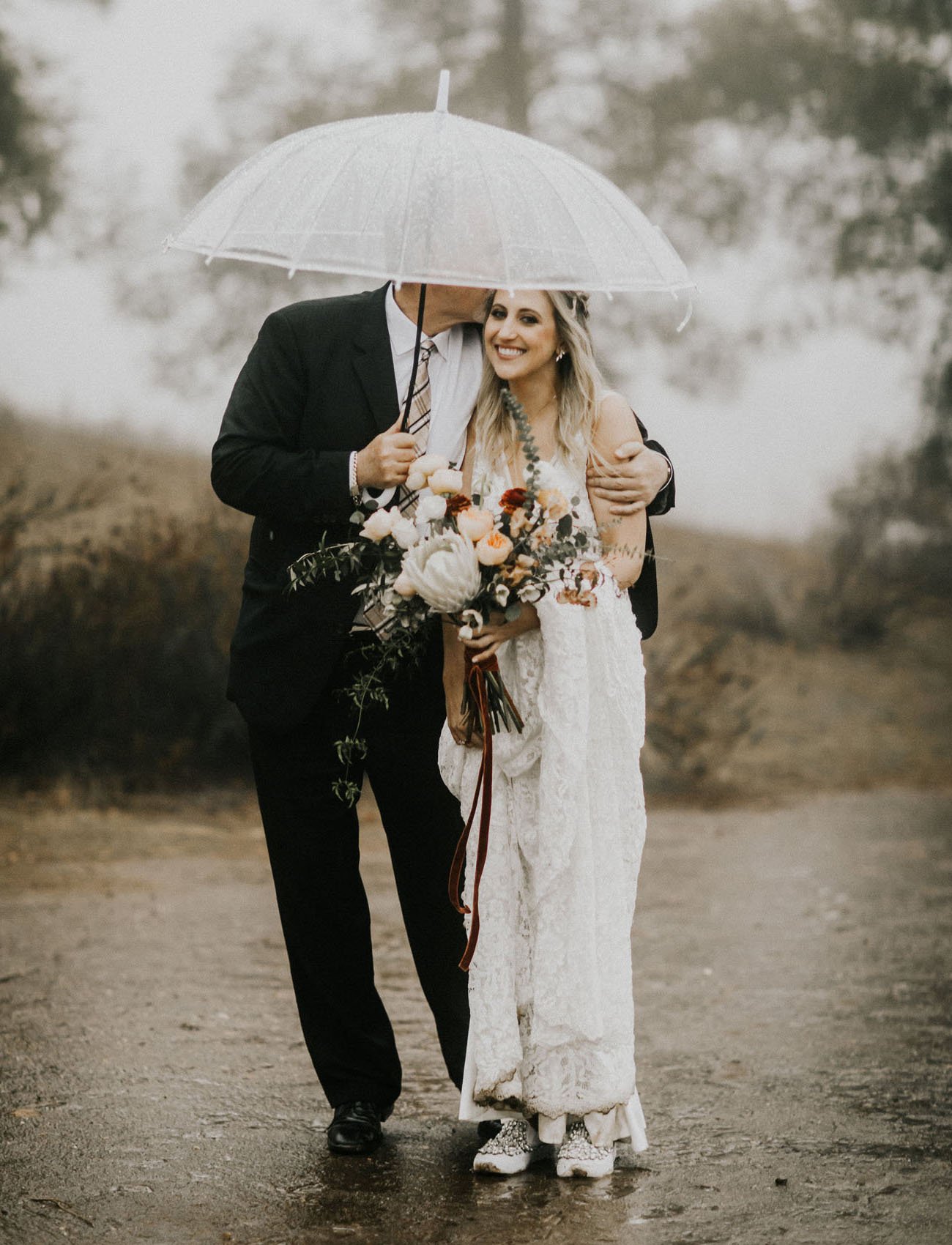 Rainy Boho Temecula Wedding