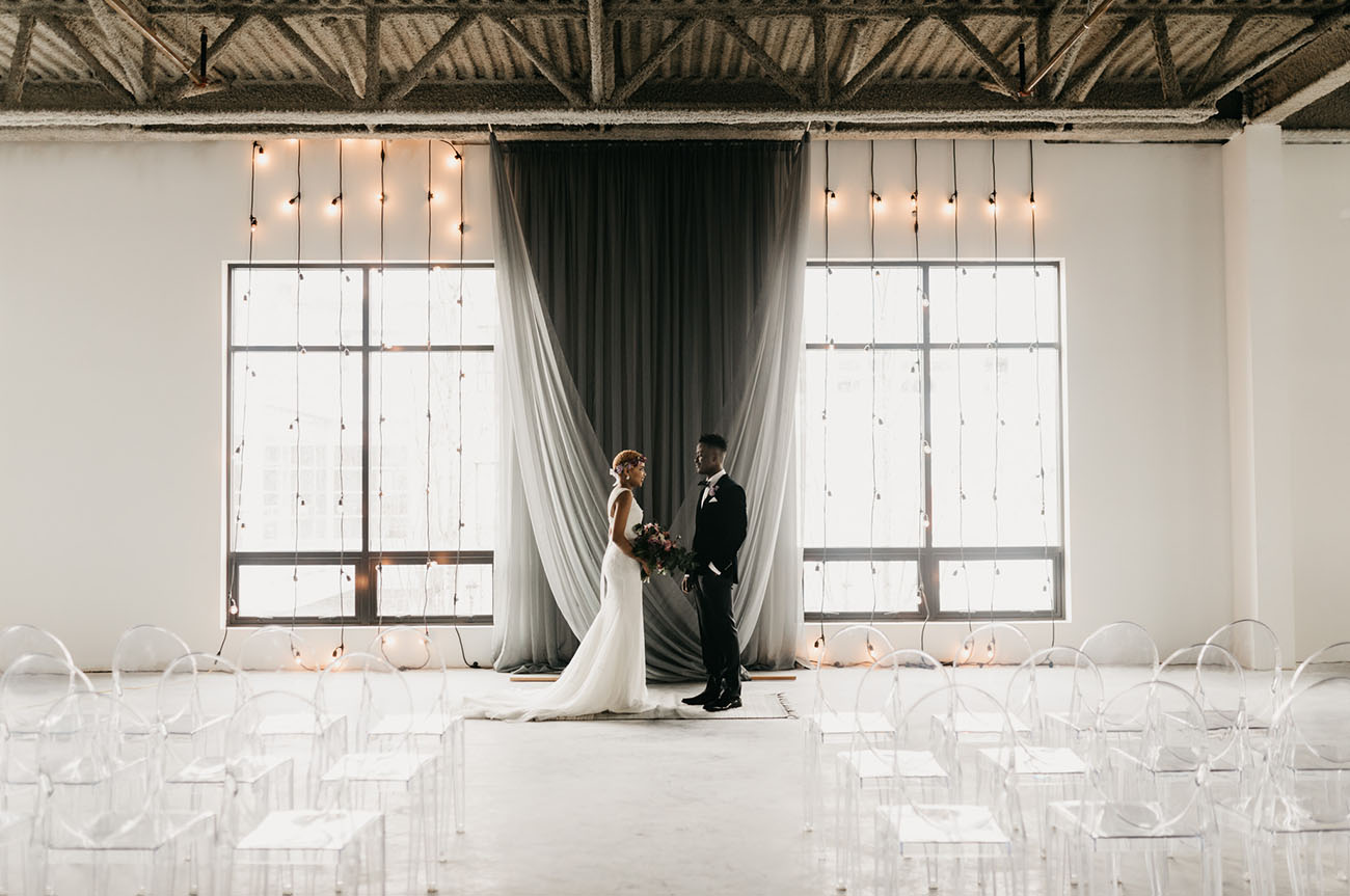 Ultra Violet Industrial Inspired Wedding