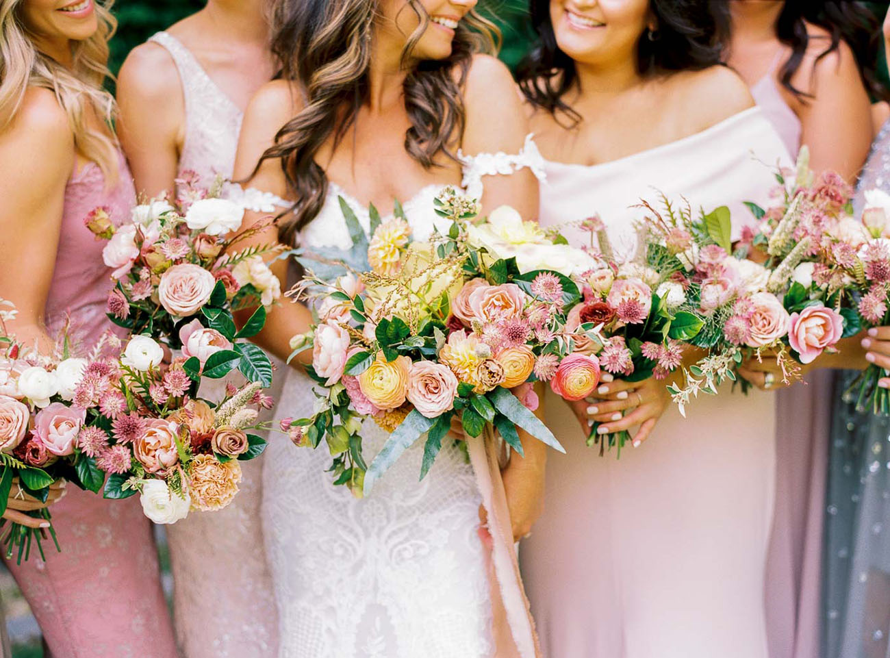 pink rose bouquets