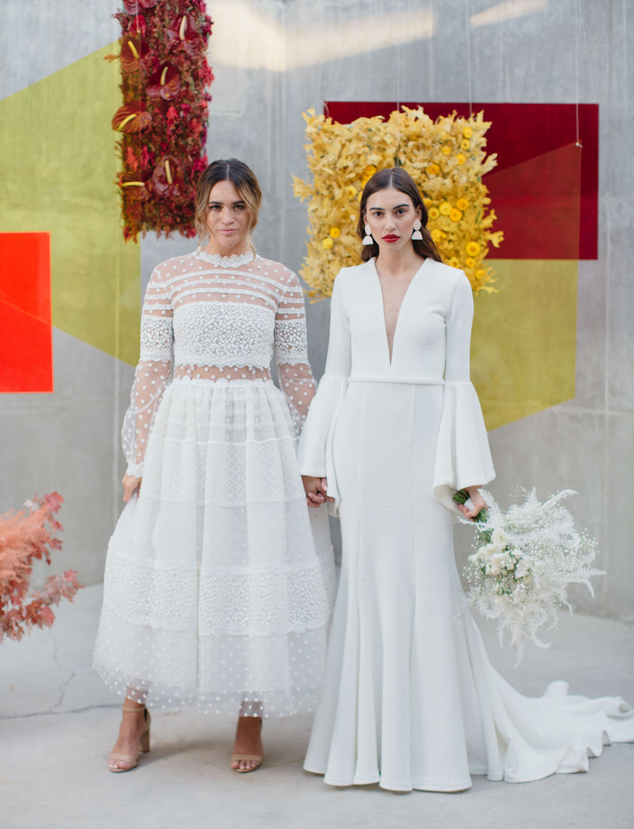 For the Love of Color: Bold High-Fashion-Inspired Color Block Wedding Editorial