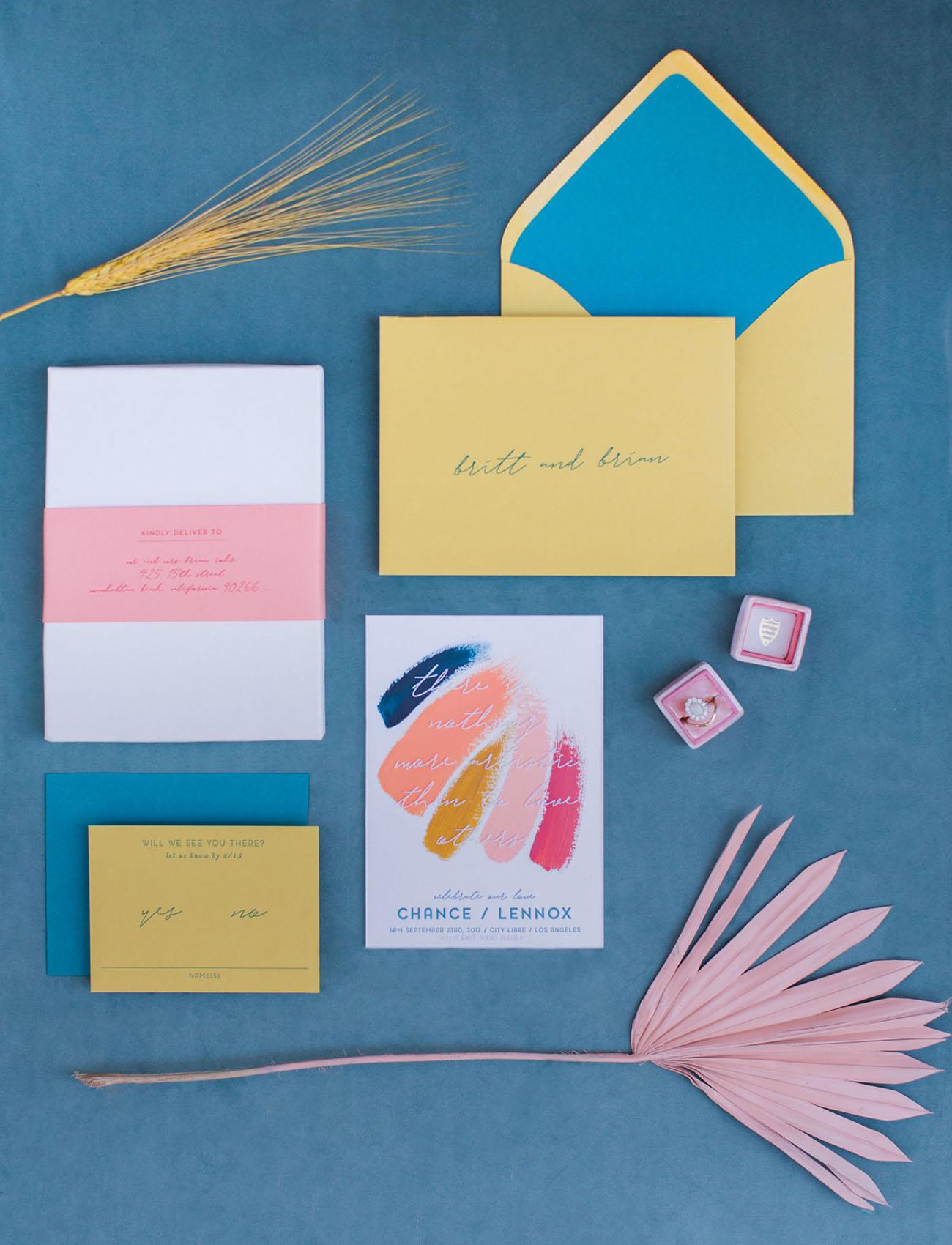 jewel tone invitation