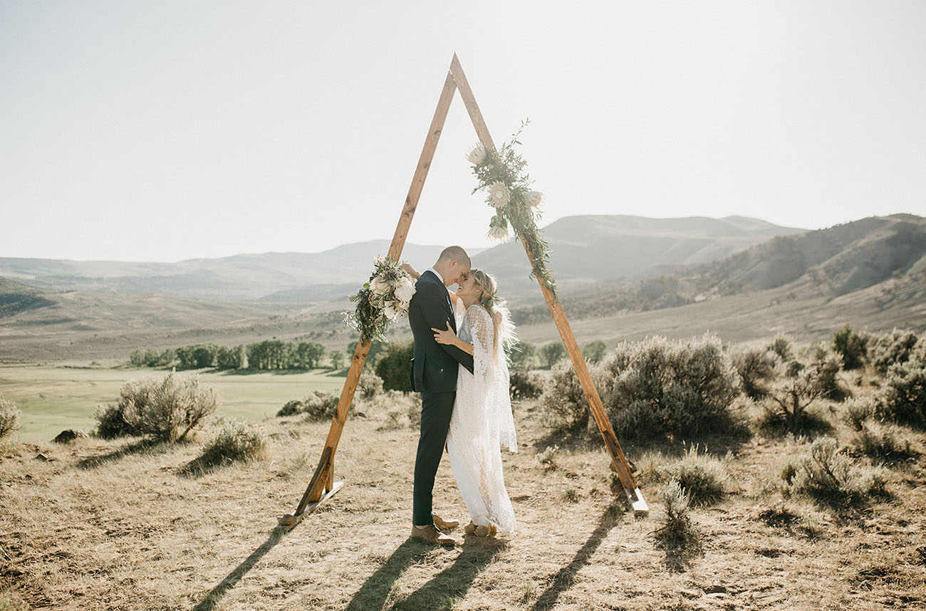 Intimate + Minimalistic Bohemian Wedding in the Countryside of Colorado