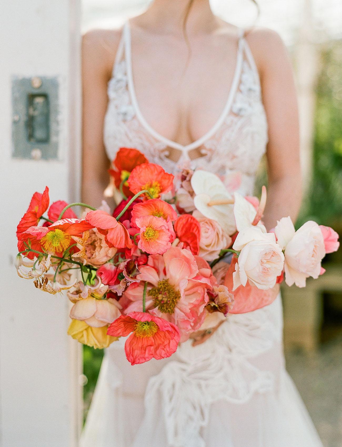 bright poppy bouquet