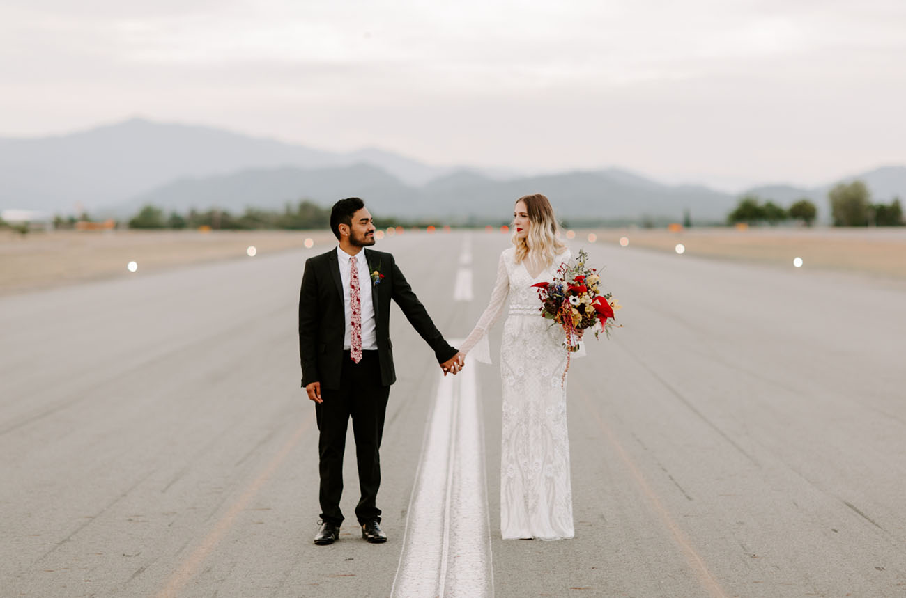 Colorful Airport Wedding